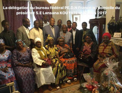 Le Bureau Fédéral PE.D.N France reçu par le président à domicile à Paris
