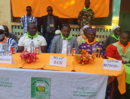 Haute Guinée : La formation des militants à la base, la nouvelle offre politique du PEDN de Lansana Kouyaté