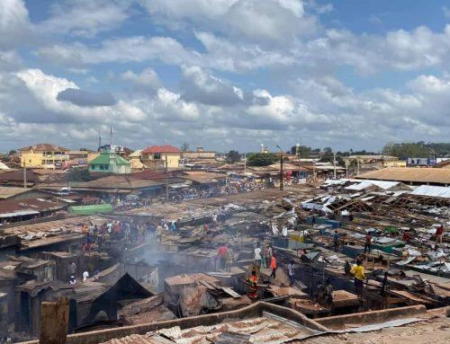 Incendie au Marché de Nzérekore : Lansana Kouyaté Solidaire